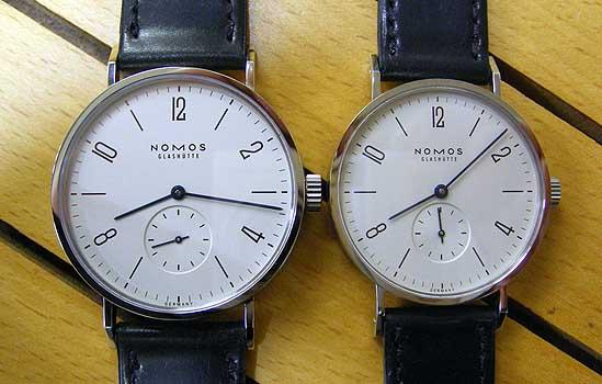 タンゴマット ノモス 機械時計の写真